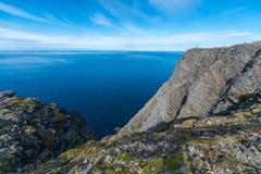 Северная накидка в Finnmark, северной Норвегии Стоковое Фото