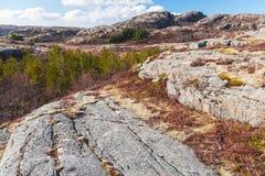 Северная Норвегия весной большие горы горы ландшафта Стоковое Фото