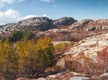Северная Норвегия в весеннем времени, ландшафте Стоковая Фотография