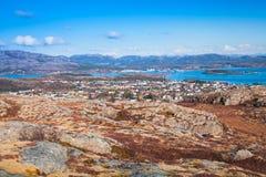 Северная Норвегия в весеннем времени Горы Стоковая Фотография RF