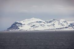 Северная Норвегия около Longyearbyen в Шпицбергене Стоковые Фото