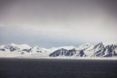 Северная Норвегия около Longyearbyen в Шпицбергене Стоковая Фотография RF