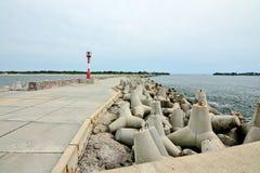Северная пристань Baltiysk, область Калининграда, Россия Стоковые Изображения RF