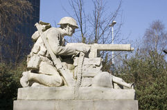 Северная скульптура пулемётчика, Portsmouth Стоковая Фотография