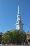Северная церковь Портсмута в Нью-Гэмпшир Стоковая Фотография RF
