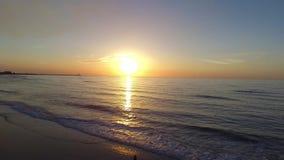 Северное море захода солнца акции видеоматериалы