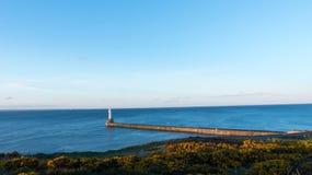 Северное море маяка, Абердин, Шотландия Стоковые Фотографии RF