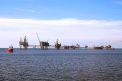северное море нефтяных платформ Стоковая Фотография RF