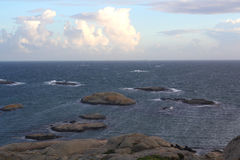 Северное море побережья в Норвегии Стоковое Изображение RF