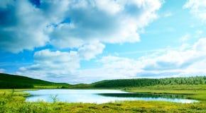 Северное озеро горы стоковая фотография rf