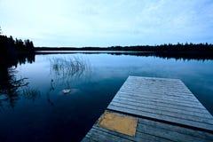 Северное озеро Саскачеван Стоковое Изображение RF