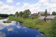 северное русское село Стоковая Фотография RF