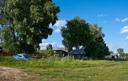 северное русское село Стоковое фото RF