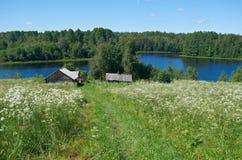 северное русское село Стоковые Фото