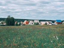 северное русское село Стоковое Изображение