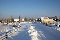 северное село Стоковые Фотографии RF