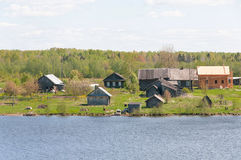 северное село Стоковое Фото