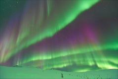 Северное сияние в Аляске Стоковые Изображения