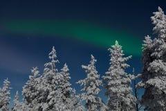 Северное сияние в Лапландии Стоковое Фото