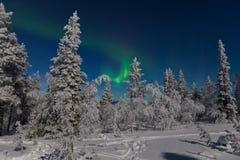 Северное сияние в Лапландии Стоковые Изображения
