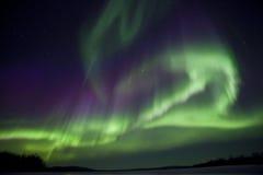 Северное сияние в финском Лапланди Стоковая Фотография