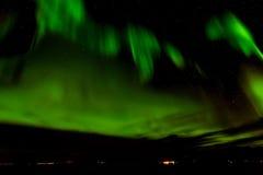 Северное сияние или северное сияние в небе на Tromso, Норвегии Стоковые Фотографии RF