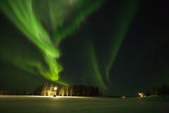Северное сияние или северные приполюсные света Стоковое Изображение RF