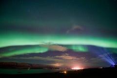 Северное сияние в Исландии стоковые изображения rf