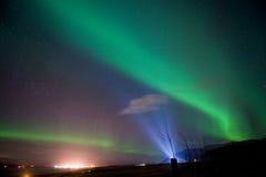 Северное сияние в Исландии стоковая фотография