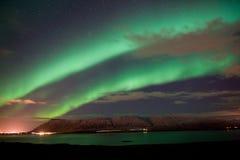 Северное сияние в Исландии стоковое изображение rf