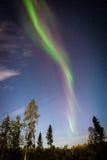 Северное сияние Йеллоунайф Стоковые Изображения RF