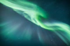 Северное сияние над Скандинавией Стоковое Изображение RF