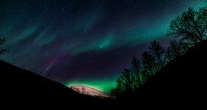 Северное сияние - северная Норвегия Стоковое Изображение RF