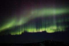 Северное сияние (северное сияние) в Аляске Стоковая Фотография