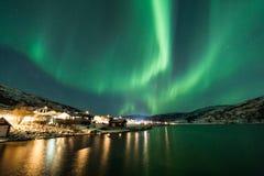 Северное сияние (северное сияние) над Tromso Стоковая Фотография RF