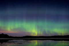 Северное сияние, северное сияние Стоковое Изображение