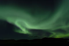 Северное сияние Северные света в Исландии Стоковые Изображения
