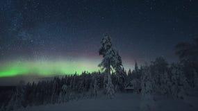 Северное сияние Финляндия Стоковое фото RF