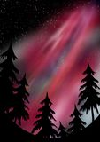 северное сияние бесплатная иллюстрация
