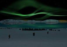 Северное сияние Стоковые Изображения RF