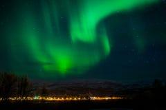Северное сияние Finnsnes Норвегия Стоковые Фото