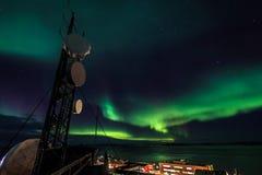 Северное сияние Greenlanic Стоковые Изображения RF