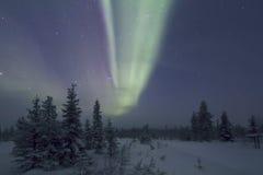Северное сияние, Raattama, 2014 02 21 - 07 Стоковые Изображения RF