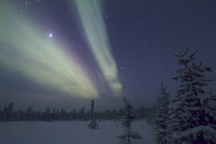 Северное сияние, Raattama, 2014 02 21 - 17 Стоковое Изображение RF