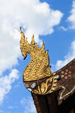 Северное тайское украшение крыши виска стиля Стоковая Фотография