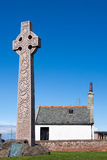 СЕВЕРНОЕ BERWICK, ВОСТОЧНОЕ LOTHIAN/SCOTLAND - 14-ОЕ АВГУСТА: Каменный крест e Стоковая Фотография