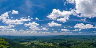 Северное Georgia от горы Yonah Стоковое Изображение RF