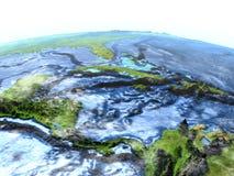 Северно Вест-Инди на земле - видимом океанском дне иллюстрация штока