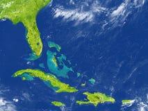 Северно Вест-Инди на земле планеты иллюстрация вектора