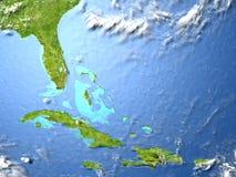 Северно Вест-Инди на земле планеты иллюстрация штока